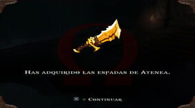 Espadas de Atenea en God of War