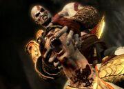 Kratos stacca la testa di elio