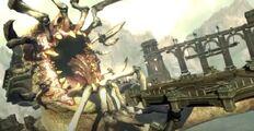Testa infetta briareo parassiti megera scatenata contro kratos GoW Ascension