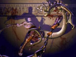 Kratos vs Gorgona