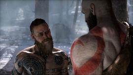 Baldur frente a Kratos