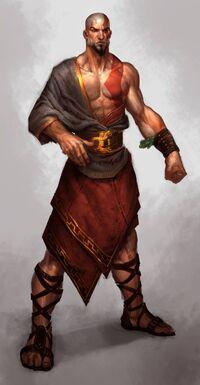 Artwork de Kratos en God of War Ascension