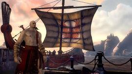 Kratos llega a la isla de Delos