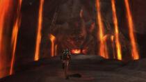 Kratos llegando junto a Thera