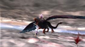 Kratos contra Grifo Oscuro