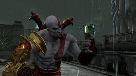 Kratos con el Cáliz de Hera
