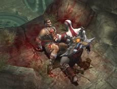 Kratos y el ultimo espartano en el pantano de los olvidados