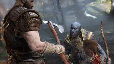 Brok ante Kratos y Atreus