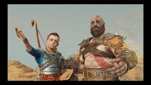Kratos e Atreus em Jotunheim