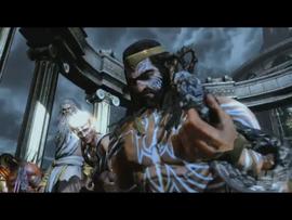 Los dioses viendo a los titanes