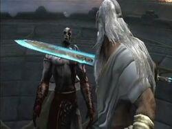 Zeus encara a Kratos