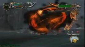 Ares resiviendo el ataque de la furia de Hades