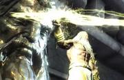 Zeus attacca gaia e kratos