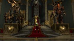 Kratos en su Sala del Trono