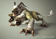 640x450 4456 God of War II Cerberus 3d fantasy creature cerber picture image digital art