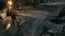Kratos saliendo del Río Estigia