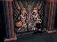 Kratos colocando los escudos
