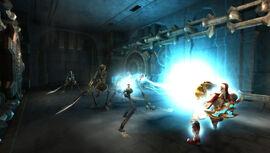 Kratos utilizando el Ojo de Atlantis