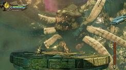 Aletto mostro marino tisifone furie kratos scontro finale vortice marino GoW Ascension