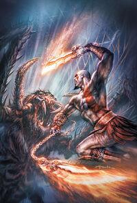 Kratos vs Arácnido Gigante