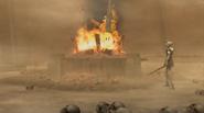 Pira del quemador de cuerpos