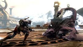 Kratos contra la Mantícora