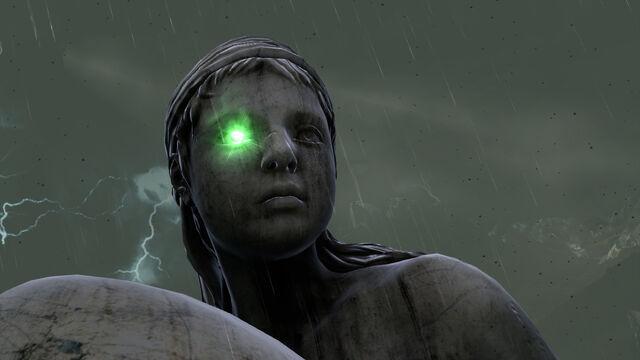 Imagen estatua de los jardines del olimpo con piedra de for Jardines del olimpo