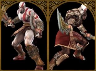 Trajes de kratos en SC Broken Destiny