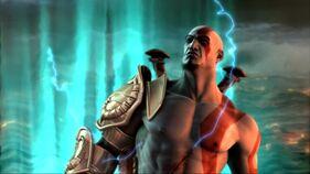 Kratos viajando en el tiempo
