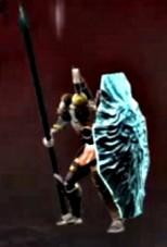 Centinela del Olimpo con Escudo