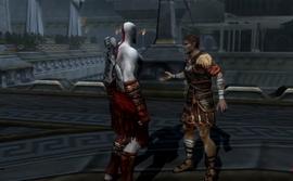 El general hablando con kratos