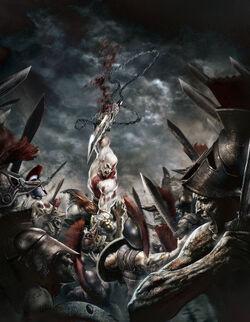 Kratos y Espartanos vs No-muertos
