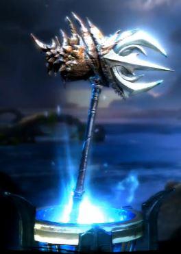 War Hammer of Poseidon in-game