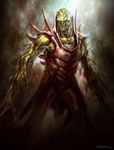 Monstruo con espinas