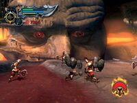 Atlas entrega a Kratos el Temblor de Atlas