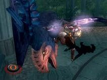 Kratos con la lanza