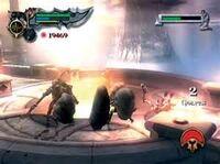 Kratos usando el Temblor de Atlas