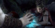 Kratos tenta inutilmente guarire aletheia