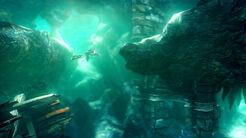 Kratos nuota grotte
