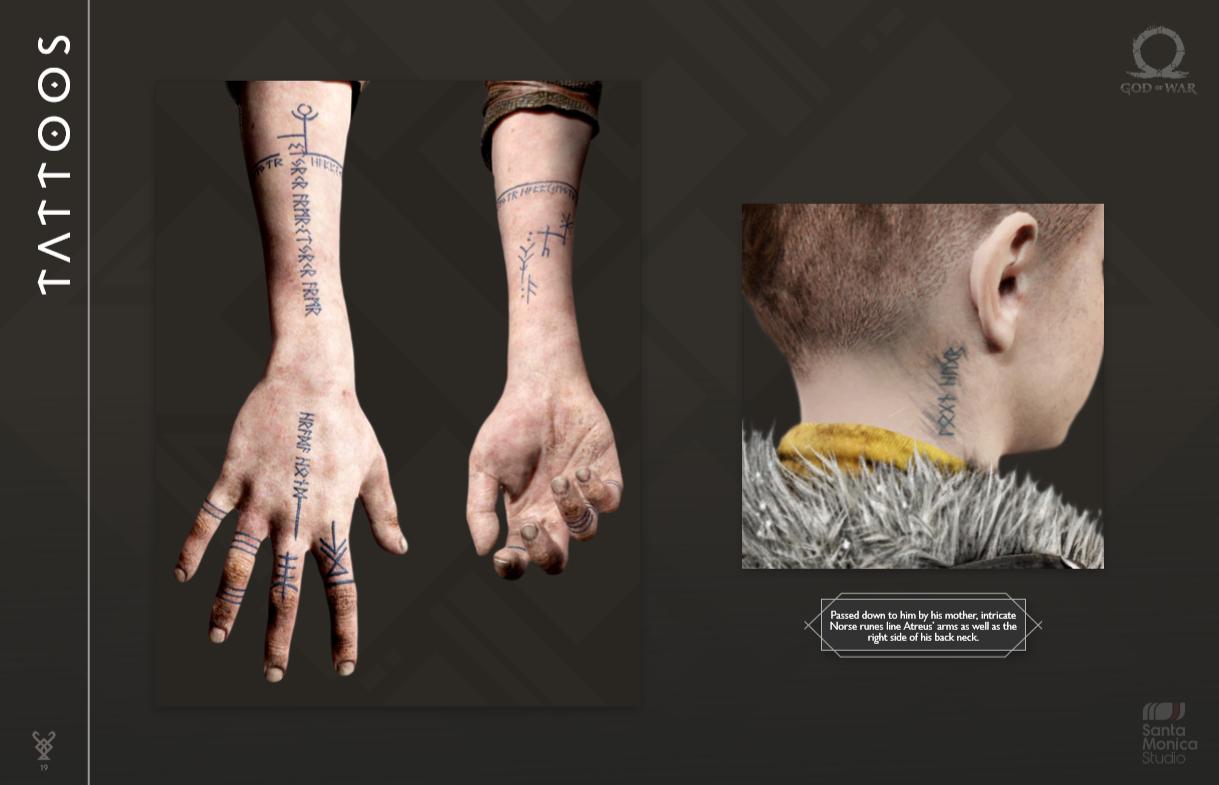 GodOfWar4 Atreuss Tattoos Edit