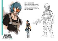 Sgt. Burden character design