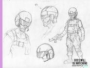 Sgt. Burden concept art