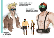 Irving and Alexander character design