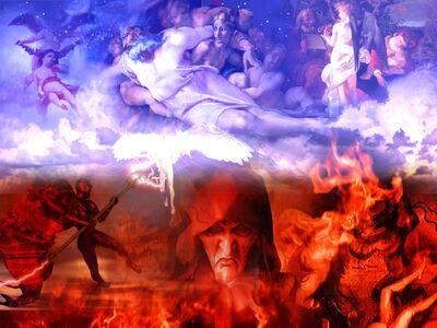 Heaven and hell wallpaper 1wl9e