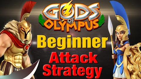 Gods of Olympus Beginner Attack Strategy - Zeus Athena & Ares