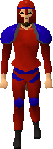 Red decorative armour