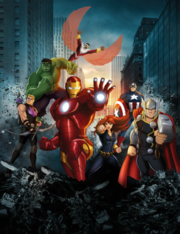 Avengers Assemble movie replica poster