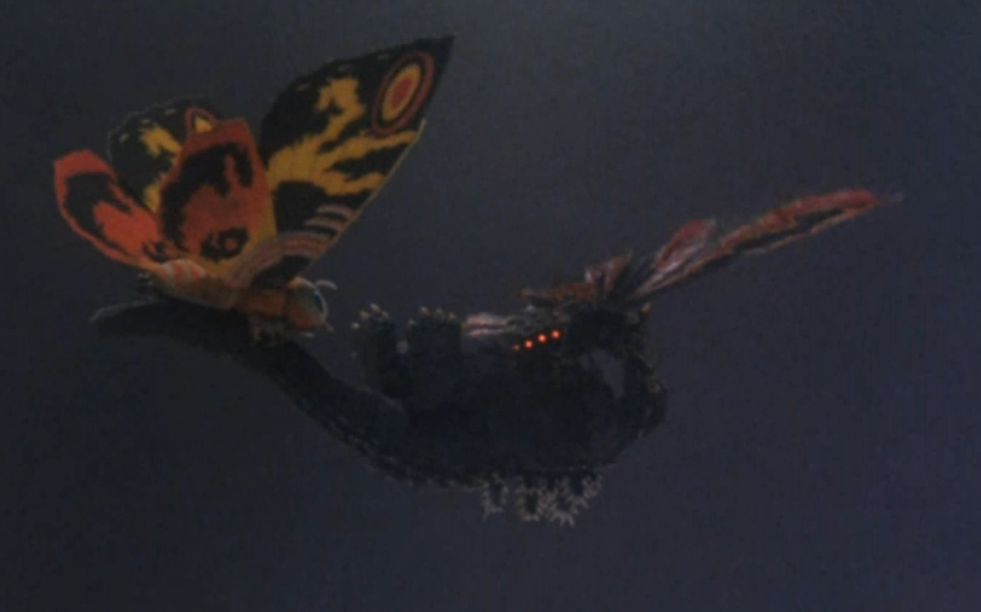 Image result for mothra and battra transporting godzilla
