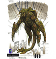 Concept Art - Godzilla Final Wars - Mummified Gigan 4