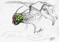 Concept Art - Godzilla vs. Megaguirus - Megaguirus 3